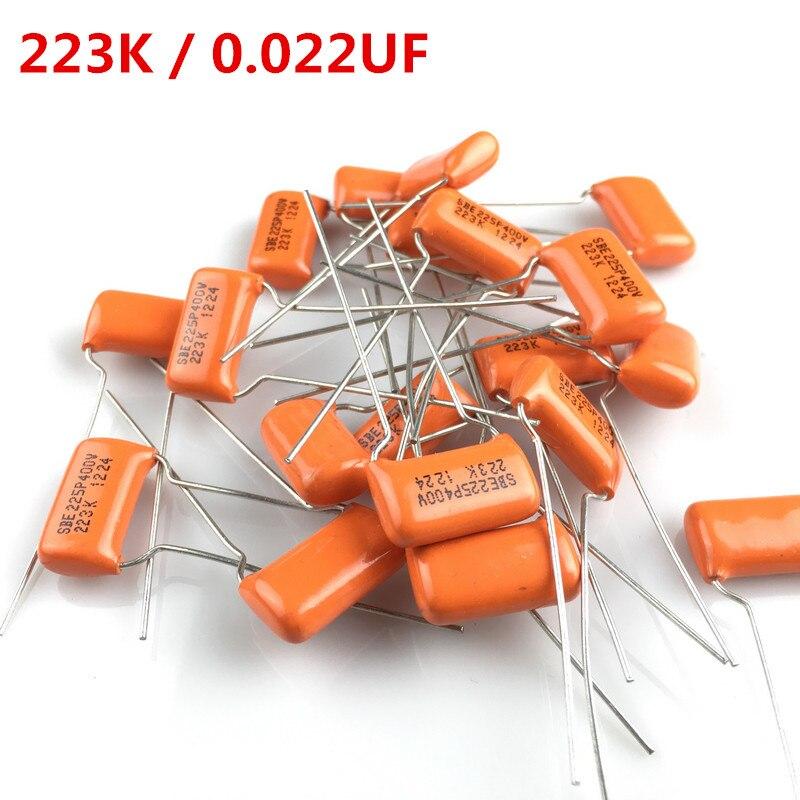 Orange Tone Capacitor SBE225P 223K 0.022UF 200V 400V 600V For Electric Guitar Bass Cap MADE IN USA