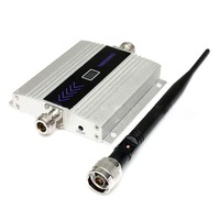 GSM 900MHz Cell Phone Signal Amplifier Booster EU with Dual Aerials Portable LCD Display High Grain Signal Repeater Kit