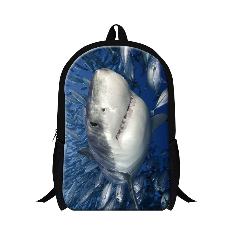 Dispalang Children School Bags For Teenager Dolphins Shark Animal Printing font b Backpack b font For