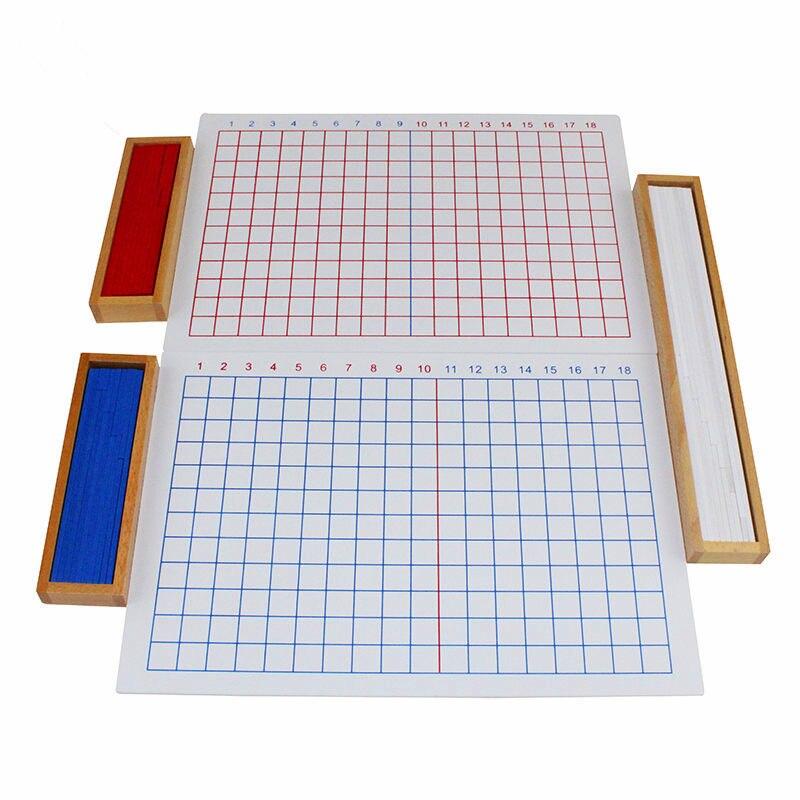 Bambini Bambini Matematica Montessori Giocattoli Educazione Giocattoli di Legno Aggiunta, sottrazione, moltiplicazione e Divisione Boards - 4