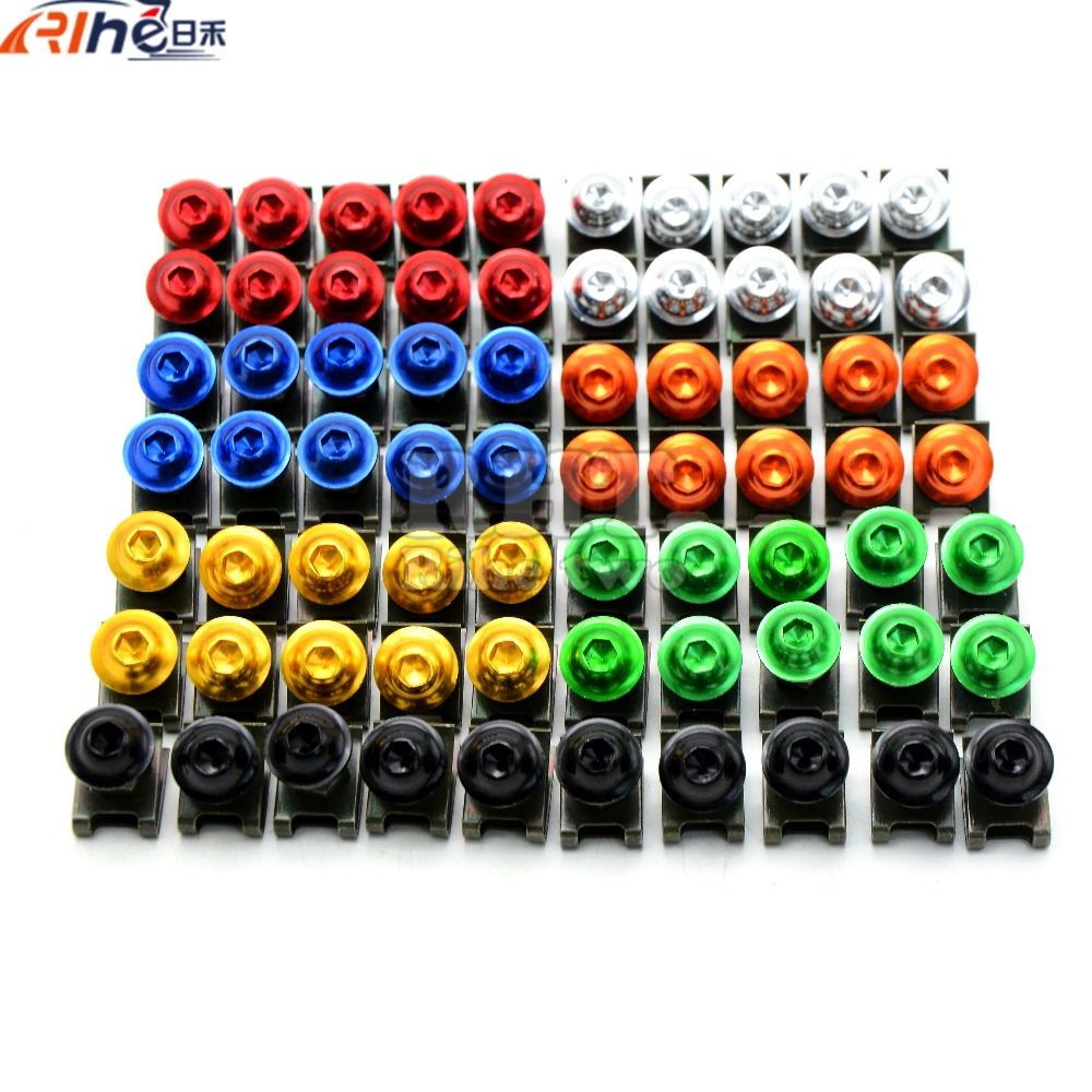 Universal 6mm motorcycle fairing screw kit set screws for suzuki gs500 TL1000R SV1000 S GSXR1300 GSF1200 GSF1250 DL1000 GSXR600