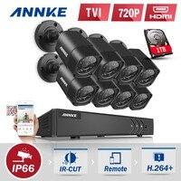 ANNKE 8CH 1080P HDMI CCTV System 8pcs 720P HD 1200TVL CCTV Security Cameras 1TB HDD Outdoor