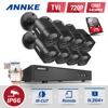 ANNKE 8CH 1080P HDMI CCTV System 8pcs 720P HD 1200TVL CCTV Security Cameras 1TB HDD Outdoor