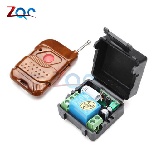 *DC 12V 1 Channel Wireless Relay Remote Control Switch Receiver Transmitter Remote Controller 315MHz 100m for Control Systems*