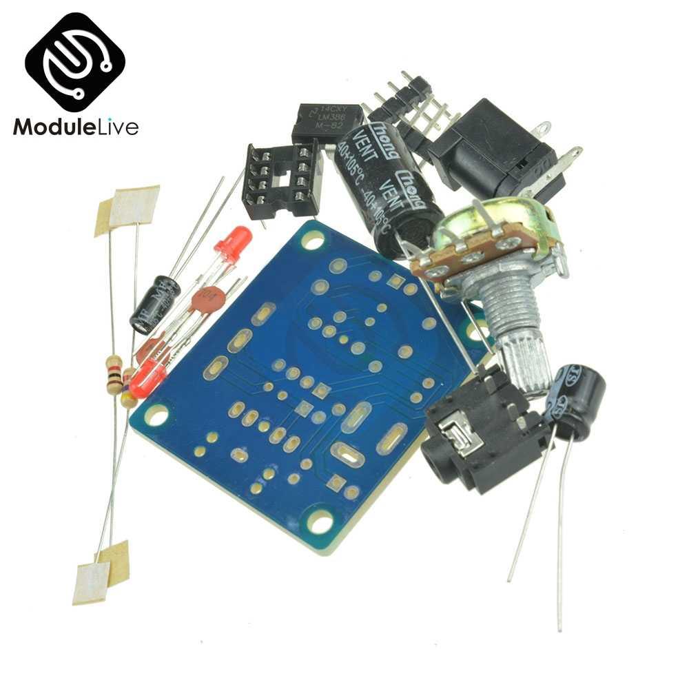 3 V-12 V LM386 מיני מגבר לוח DIY ערכת מגבר כוח חליפת משתנה הנגד DIP8 IC LED אודיו קבלים DC005 Byond TDA2030
