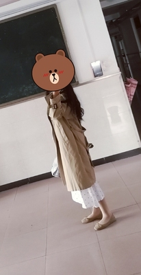 Spring And Autumn Women Fashion Brand Korea Style Waist Belt Loose Khaki Color Trench Female Casual Elegant Soft Long Coat Cloth 29