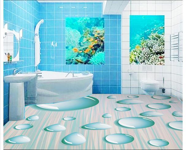 refaire sa salle de bain en 3d: exclusivitàs papier peint d