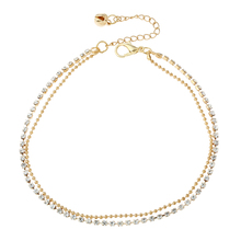 New Arrival Wholesale Ladies Anklets Gold Plated Rhinestones Anklets For Women Trend Fine Accessories Jewelry Factory Price