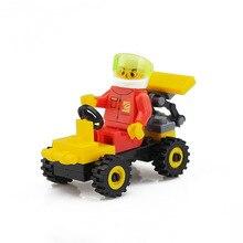 1 Conjunto de Construção de Construção de Brinquedos Carro Modelo de Construção Kits Brinquedos Educativos Passatempos para Crianças do jardim de Infância Presentes