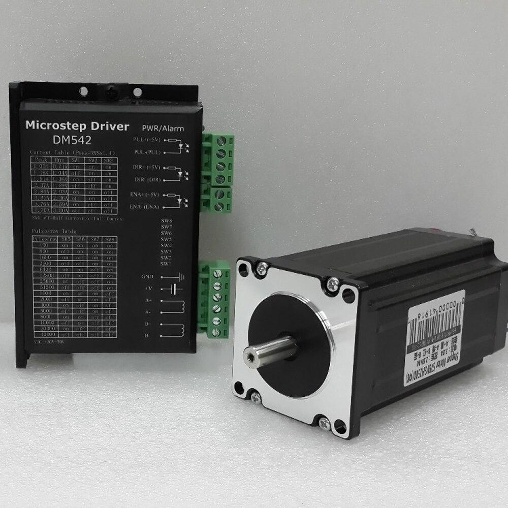 NEMA 23 Kits de CNC Micro pilote pas à pas AC24V-50V 2 phases facile moteur pas à pas 1Nm couple 1.8 degrés 3A pour Machine de gravure de CNC