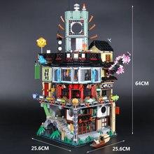 В наличии H & HXY 06066 4953 шт. Ninjago город мастера Spinjitzu здания Лепин Конструкторы игрушечные лошадки кирпичи Совместимость 70620 Рождественский подарок