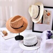 2018 New Summer Fashion Handmade Women's Beach Boho Fedora Straw Hat Sun Hat Sun