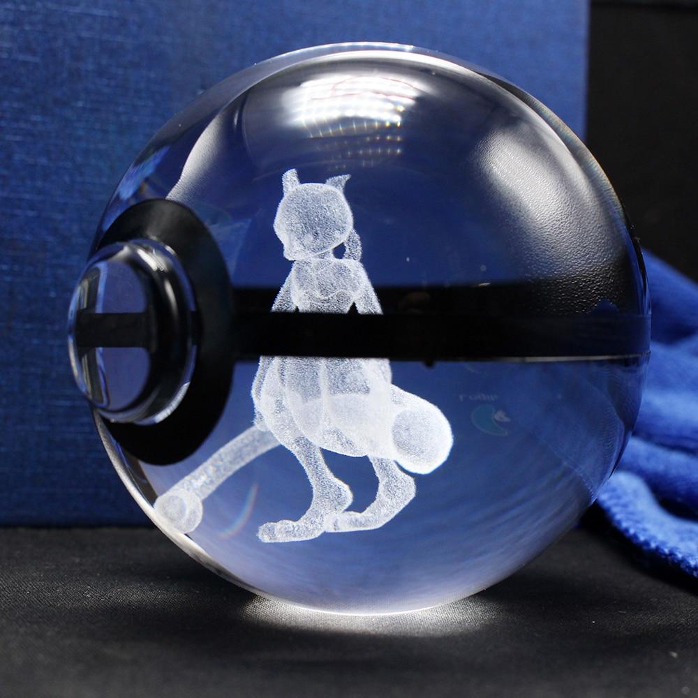 Bola de cristal del grabado de Mewtwo Pokemon 3D de la moda agradable - Decoración del hogar - foto 2