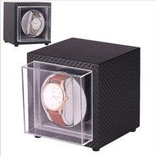 New 1PCS Motor Shaker Watch Winder EU/US/AU/UK Plug Automatic Mechanical Watch Winding Box PU Leather-skw137