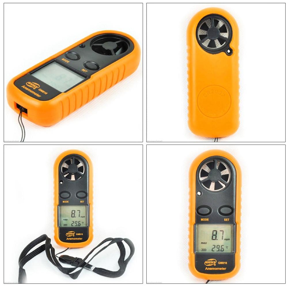 Medidor digital digital de velocidad del viento GM816 30m / s (65MPH) - Instrumentos de medición - foto 5