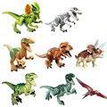 8 unids/lote dinosaurio Jurásico Mundo Niño juguetes para Niños bloques de Juguete Bloques de Construcción para niños Set Modelo Juguetes Ladrillos niños BL19