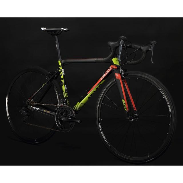 Java veloce2 дорожного велосипеда алюминиевого Рамки углерода Вилы 700C Racing Велосипедный Спорт 16 Скорость тормозной суппорт город дорожные велосипеды