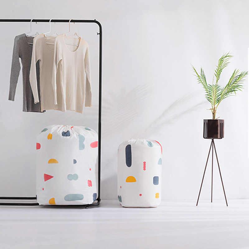 PEVA 1 pc de Alta Capacidade À Prova D' Água Roupas Saco De Armazenamento Quilt Organizador Dobrável Closet Bundle Bolsa para Travesseiro Da Cama Cobertor