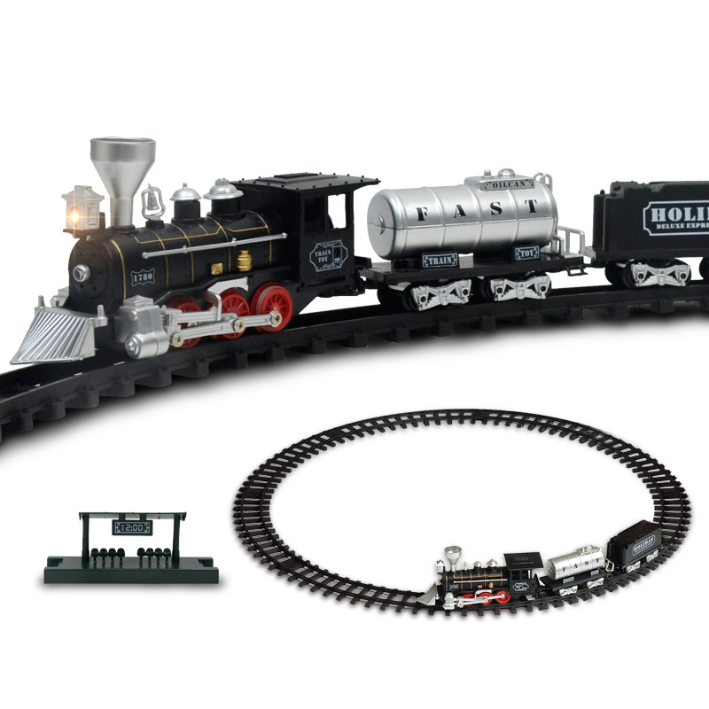 Electric Racing rail car kids Track train model toy baby Railway train Racing Road Transportation Building Slot Sets Toys kids