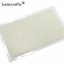 Lucia artesanato multi tipo pérola strass adesivos para telefone feminino diy decoração do prego arte artesanato c0803