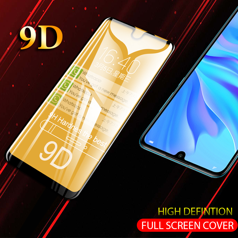 9D Full Covered Glass For Huawei P30 P20 Lite Pro P Smart Y9 2018 2019 9 D Protective Glass On For Honor 20 9 Lite Glass P30 Pro