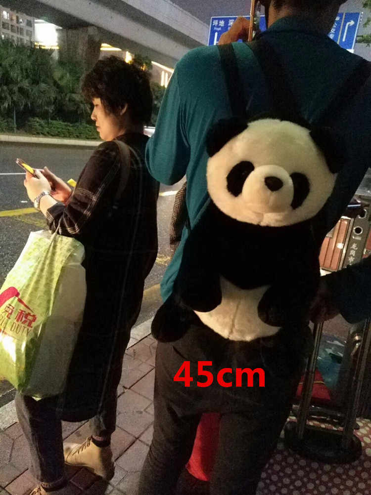 1Pcs 35-45cm Black and White Panda Plush Backpack Kawaii Panda Backpacks for Kid and Adult Cute Panda Stuffed Plush Doll Soft