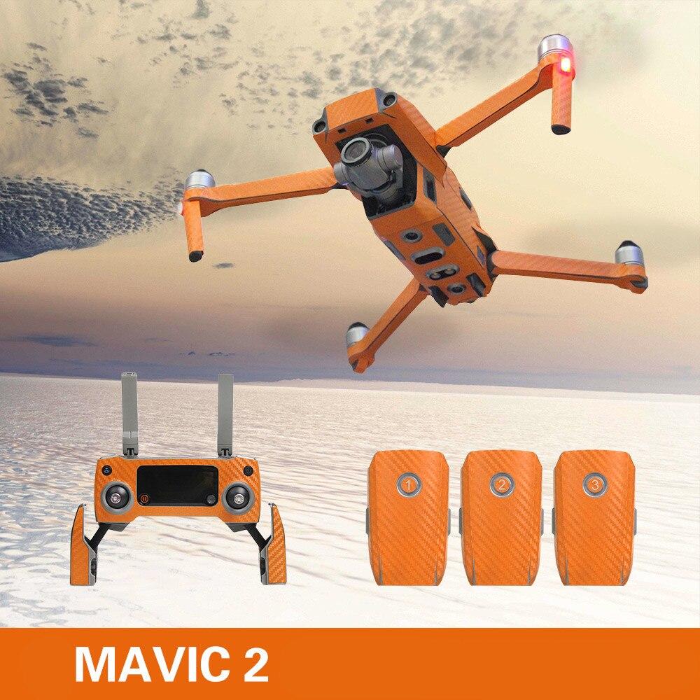 Anti Scratch Carbon Fiber Sticker For DJI Mavic 2 PRO / ZOOM Remote Control Body Arm Skin Decal Film Kit Drone Accessories