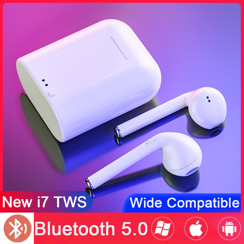 I7s TWS Wireless Bluetooth Earphone 5.0 Aire Mini Sport In Ear Stereo Earbud Headset With Charging Box For IPhone Xiaomi Huawei