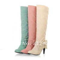 Big Size 2013 New Arrive Women S Fashion High Heel Winter Boots Shoes Drop Shipping THSJKL996