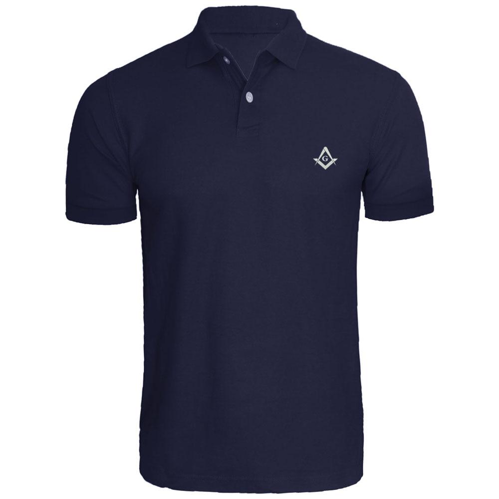 Mens Masonic Symbol Embroidered   Polo   Shirts Men Shirts