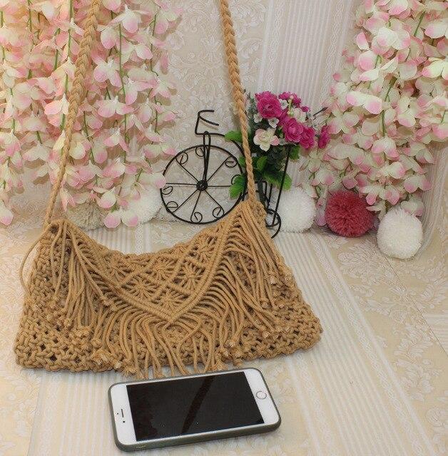 d0689aeb7 ... bolso monedero de señoras. 2019 Female Women Vintage Day Clutches Bag  Bohemian Summer Beach Small Party Bag Bolsa White Weaving