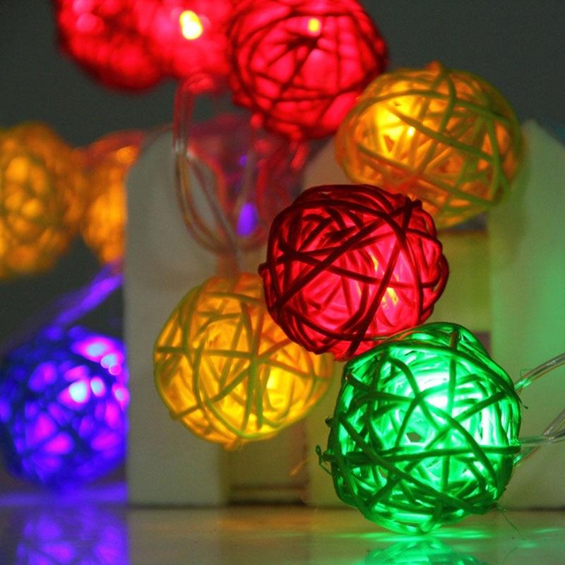 20LED Cotton Ball Fairy Led String Light Home Party Wedding Christmas Decor