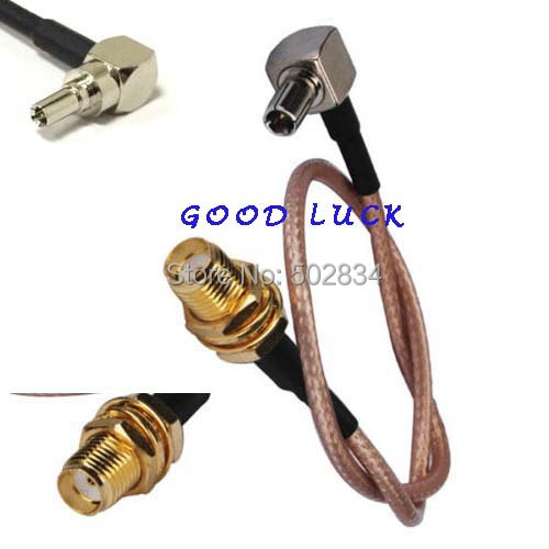 50pcs lot SMA female nut to CRC9 male right angle RG316 Pigtail jumper cable 20cm