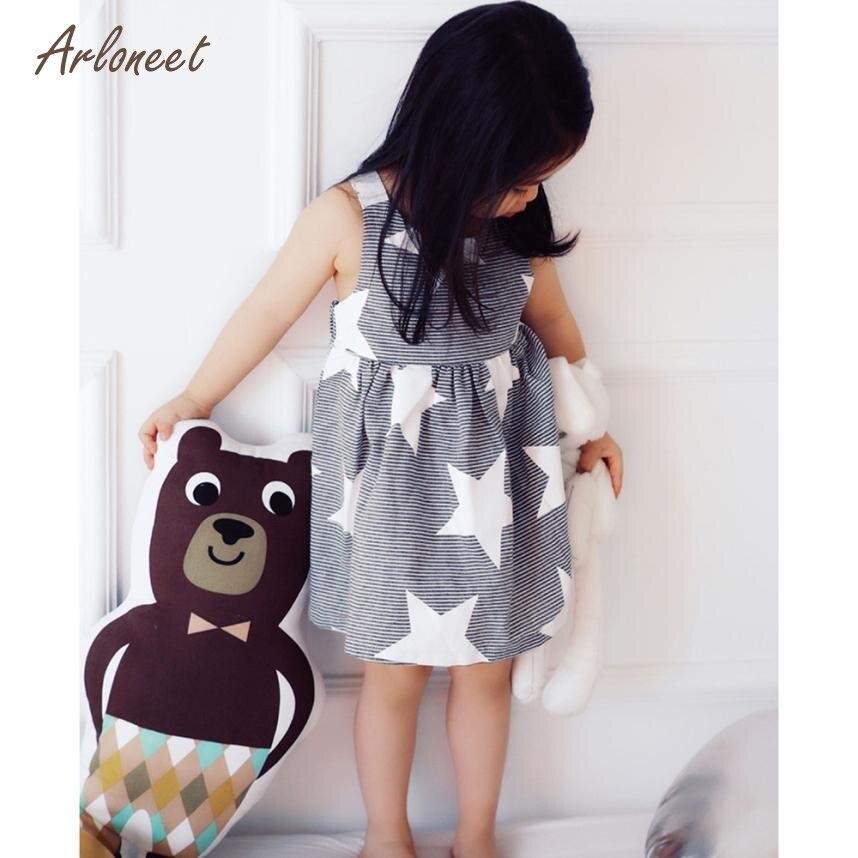 6ee8295488f7d ARLONEET Dresses Toddler Baby Kids Girls Summer Sleeveless Beach Sundress  Star Stripe Party Dress Dropshipping Mar22
