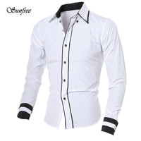 Sunfree 2016 New Hot Sale Fashion Personality Men S Casual Long Sleeved Shirt Top Comfortable Brand