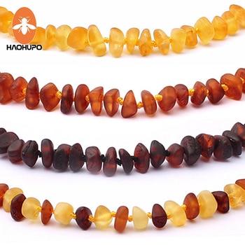 HAOHUPO Raw Unpolished Amber Bracelet/Necklace Baltic Natural Amber Beads Baby Jewelry for Boy Girls Infant Teething Child Gifts автодиффузор для автомобиля baltic amber балтийский янтарь