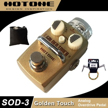 Hotone Skyline Series GOLDEN TOUCH Overdrive Pedal for Guitar with Free Pedal Case and More