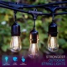 IP65 17 mt 24 Lampen S14 String Lichter Wasserdichte E27 LED Retro Edison Glühlampe Freien Garten Urlaub Hochzeit Lichter string