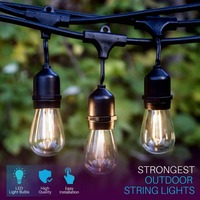 IP65 17M 24 Bulbs S14 String Lights Waterproof E27 LED Retro Edison Filament Bulb Outdoor Garden Holiday Wedding Lights String