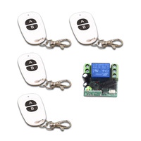 Special Sales Mini DC12V 10A Relay 1CH wireless Remote Control Switch Receiver+4pcs Transmitter ON/OFF 315MHZ or 433MHZ