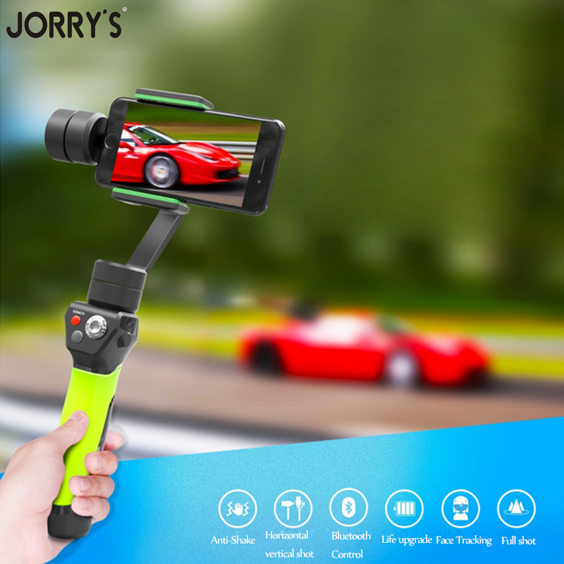 3 Axis Handheld Stabilizing Gimbal Action Camera Stabilizer 360 Degree Control for iphone 6 6s 7 Xiaomi Yi Similar Sport Cameras