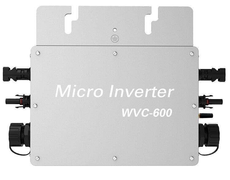 Étanche 600 W Micro Onduleur avec DC 22-50 V Large Tension D'entrée à AC80-160V ou 180-260 V Haute Efficacité MPPT Grille Inverseur de Cravate