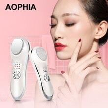 AOPHIA máquina de iontoforesis, 5 colores, terapia de luz LED de fotones, rejuvenecimiento de la piel por RF, estiramiento facial, máquina de belleza para arrugas