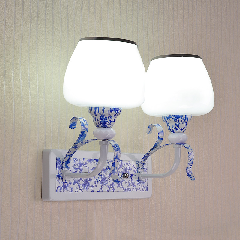 Wall Lamps bedside hotel staircase corridor living room romantic warm modern single head 2 heads wall light LU823404