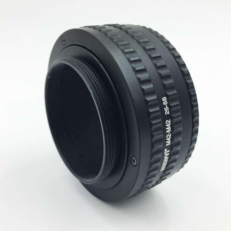 Image 2 - Newyi M42 к M42 Крепление объектива Регулируемая фокусировка Helicoid объектив для макросъемки адаптер 25 мм до 55 мм объектив преобразователь камеры переходное кольцо-in Адаптер объектива from Бытовая электроника
