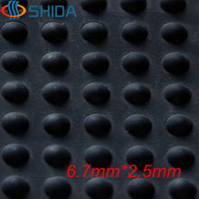 Wholesale 1000PCS 6.7x2.5mm Black Self Adhesive Anti Slip Silicone Rubber Rubber Feet Pads Bumper Silica Gel Shock Absorber Pad(China)