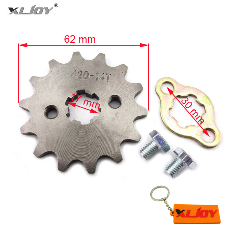 420 14T 14 Teeth 17 MM Front Engine Sprocket For Motorcycle ATV OR Dirt Pit bike