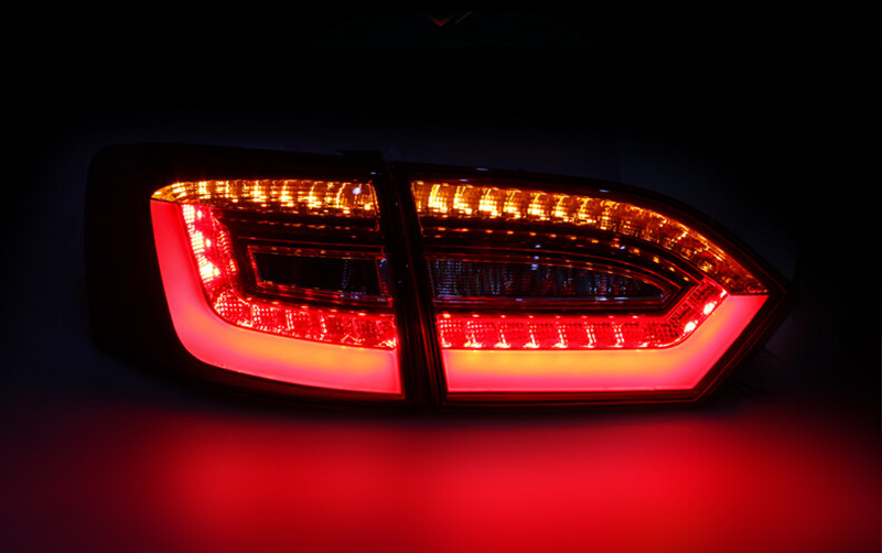 Car Styling LED Rear Lamp For Volkswagen Jetta 2011-2014 Tail lights Trunk Reverse+Brake+Turn light Signal Modify Custom car rear trunk security shield cargo cover for volkswagen vw tiguan 2016 2017 2018 high qualit black beige auto accessories