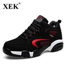 Xek Новое поступление 2017 года Для мужчин зимние Термальность спортивная обувь бренды теплая Бег Спортивная обувь черный Мех животных спортивные кроссовки Спортивная обувь JH05