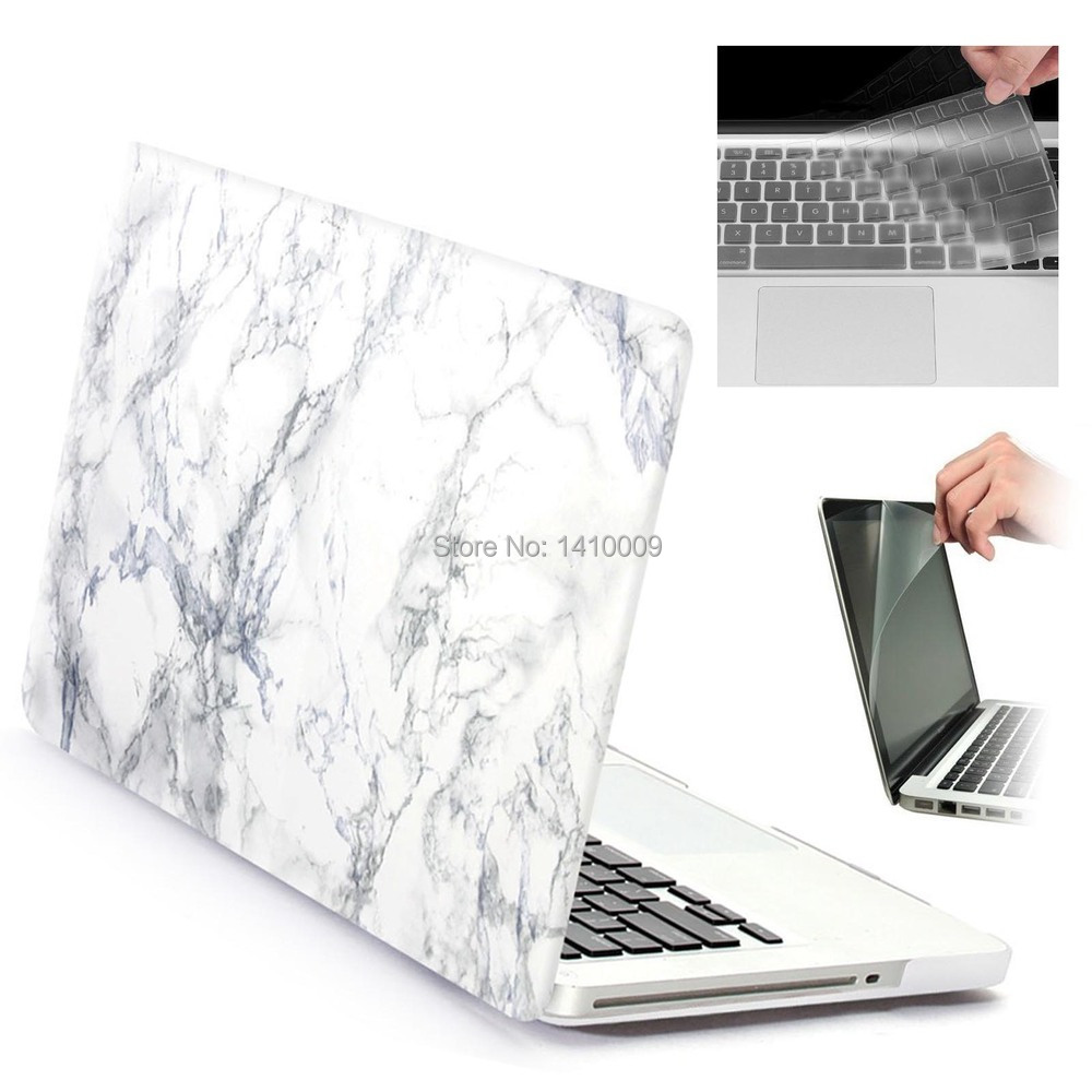 """White//Gold Marble Matte Case for for Macbook 12/"""" with Retina Display Model A1534"""
